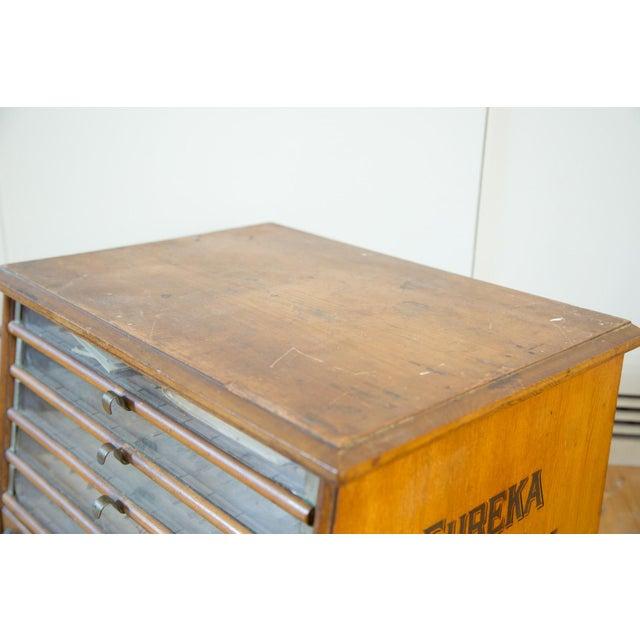 Antique Victorian Eureka Silk Spool Cabinet - Image 8 of 8