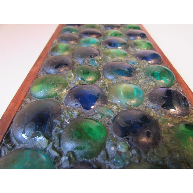 Mid-Century Glass Tiled Wood Box - Image 6 of 10