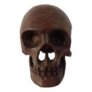 Small Anatomical Wooden Skull