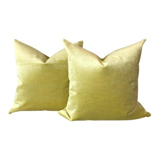 Citrus Velvet Pillows - A Pair