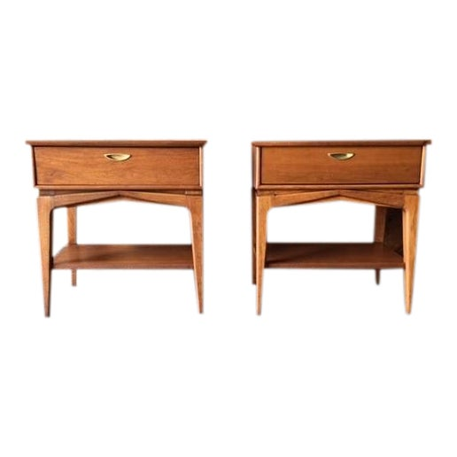 Mid-Century Refinished Kent Nightstands - Pair - Image 1 of 7