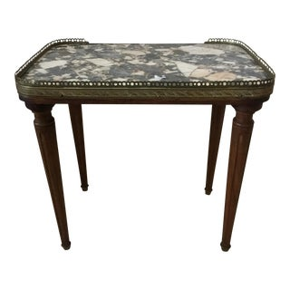 French Marble Top Accent Table