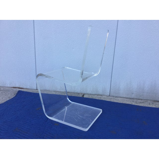Image of Vintage 1970s Modern Lucite Desk Chair