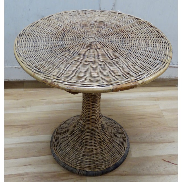 Wicker Accent Table - Image 2 of 4