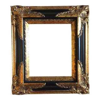 Italianate Black and Gold Frame