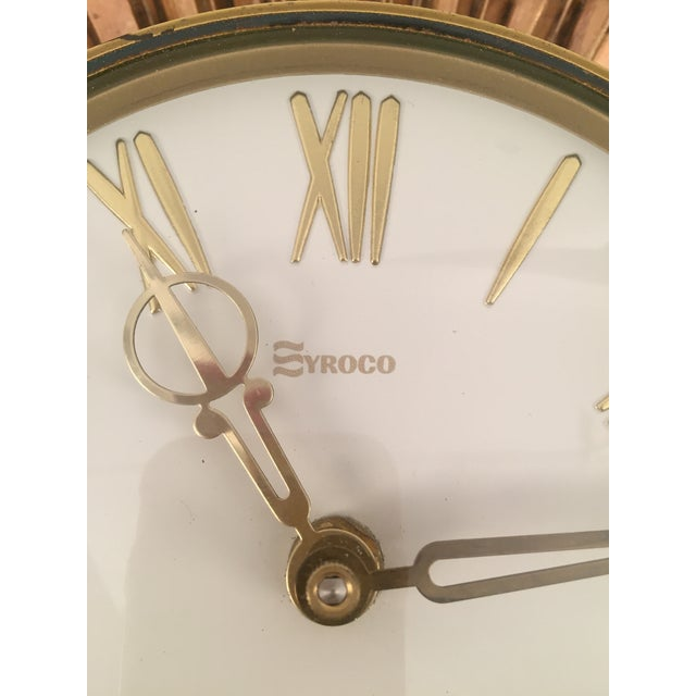 Mid-Century Syroco Sunburst Wall Clock - Image 4 of 11