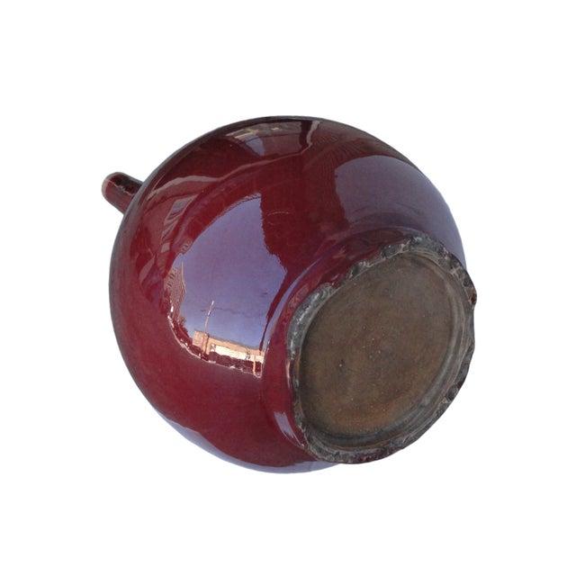 Modern Porcelain Red Decorative Vase - Image 4 of 4