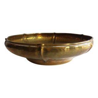 Vintage Italian Hammered Brass Bowl