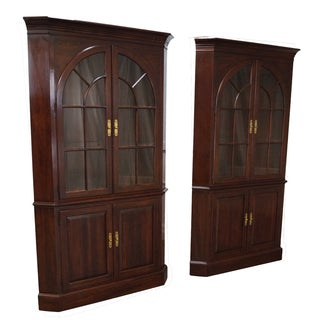 Ethan Allen Georgian Court Cherry Cabinets - Pair