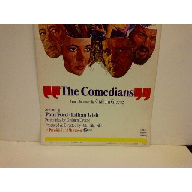 """Vintage Movie Poster """"The Comedians"""" Elizabeth Taylor 1967 - Image 4 of 6"""