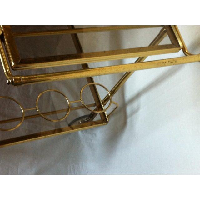 Maison Jansen Italian Brass Bar Cart - Image 6 of 6