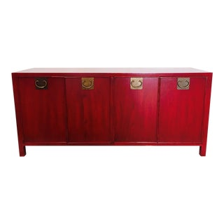 Mid-Century Red Lacquered Crendenza
