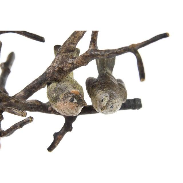 Image of Vienna Antique Painted Bronze Miniature Birds