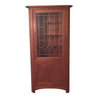 Stickley Mission Cherry Corner Cabinet