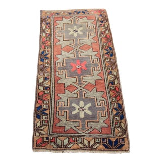 Vintage Turkish Oushak Tribal Rug- 1′6″ × 3′1″