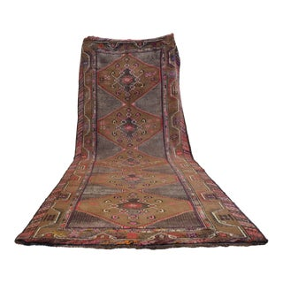 Hand Knotted Natural Colors Tribal Rug - 5′3 ″ x 13′1″