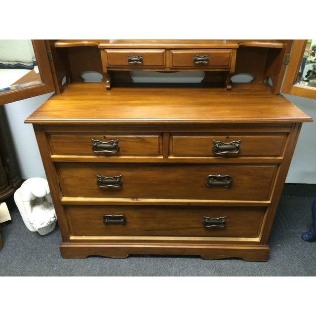 Late 1800 39 S Eastlake Style Dresser Vanity Chairish