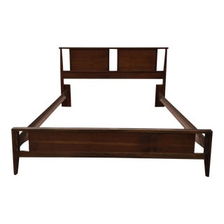 Mid-Century Bassett Tavern Walnut Bed