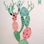 """Image of """"Picaso Cactus"""" Watercolor Painting, Steve Klinkel"""