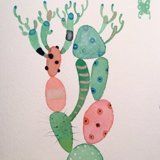 """""""Picaso Cactus"""" Watercolor Painting, Steve Klinkel"""