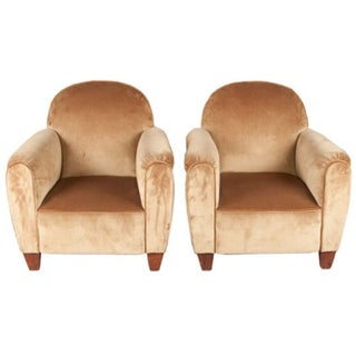 1940's French Club Armchairs - Pair