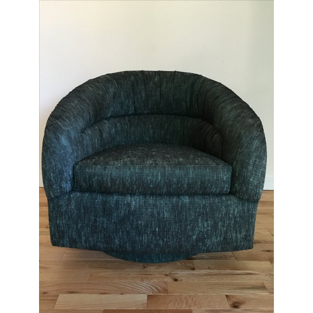 Vintage Mid Century Swivel Barrel Chair Chairish