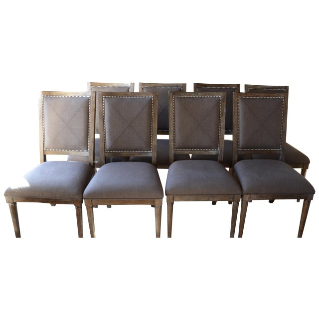 Bassett Furniture Compass Dining Chairs Set Of 8 Chairish