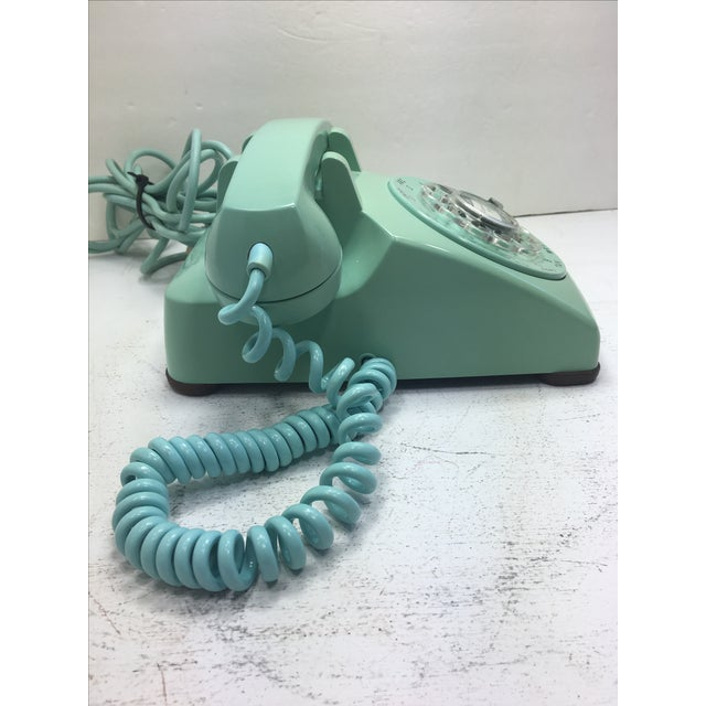 Turquoise 500 Rotary Dial Desk Phone - Image 2 of 11