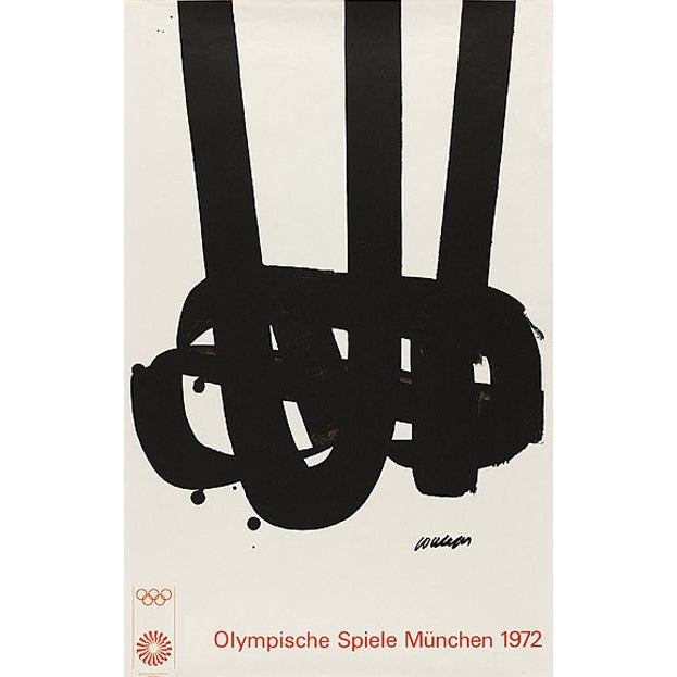 Image of Pierre Soulages Olympic Art Framed Lithograph