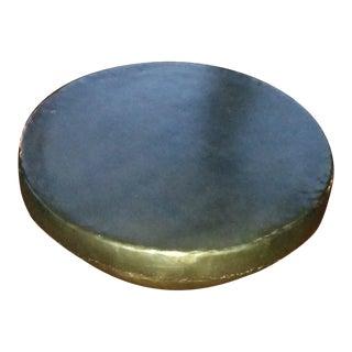 """Bronzed"" Metal Drum Coffee Table"