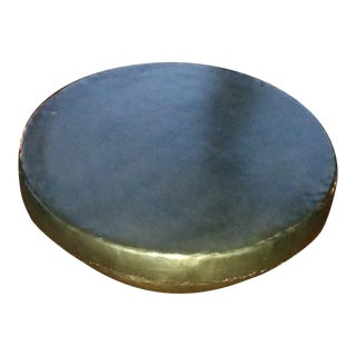 """Bronzed"" Metal Drum Coffee Table"