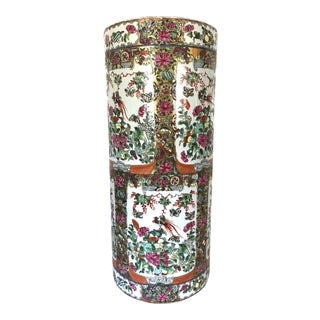Over Sized 'Rose Canton' Porcelain Umbrella Stand