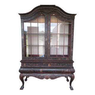 Drexel Heritage Et Cetera Chinoiserie Lighted China Cabinet