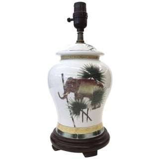 Safari Style Porcelain Elephant Lamp