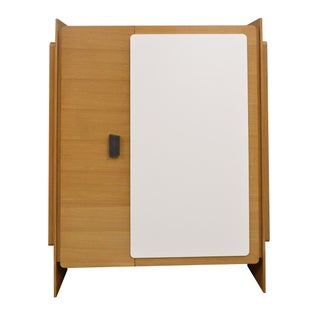 Modern Custom Designed Lacquered Wood Armoire