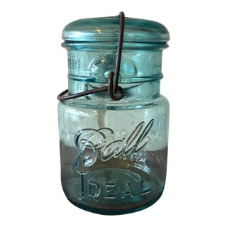 Blue Glass Ball Canning Jar