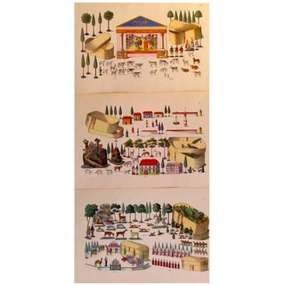 1870s Animals/Figurines Toy & Dollhouse Design Planches- Set of 3