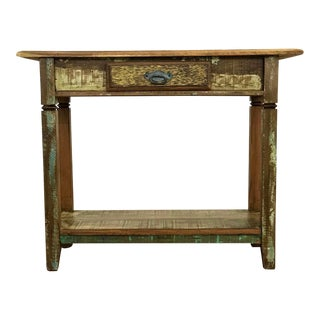 Handmade Reclaimed Antique Wood Console Table
