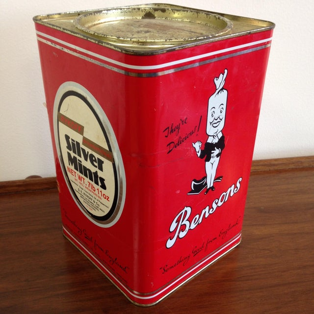 Vintage Bensons Candy Canister - Image 2 of 9