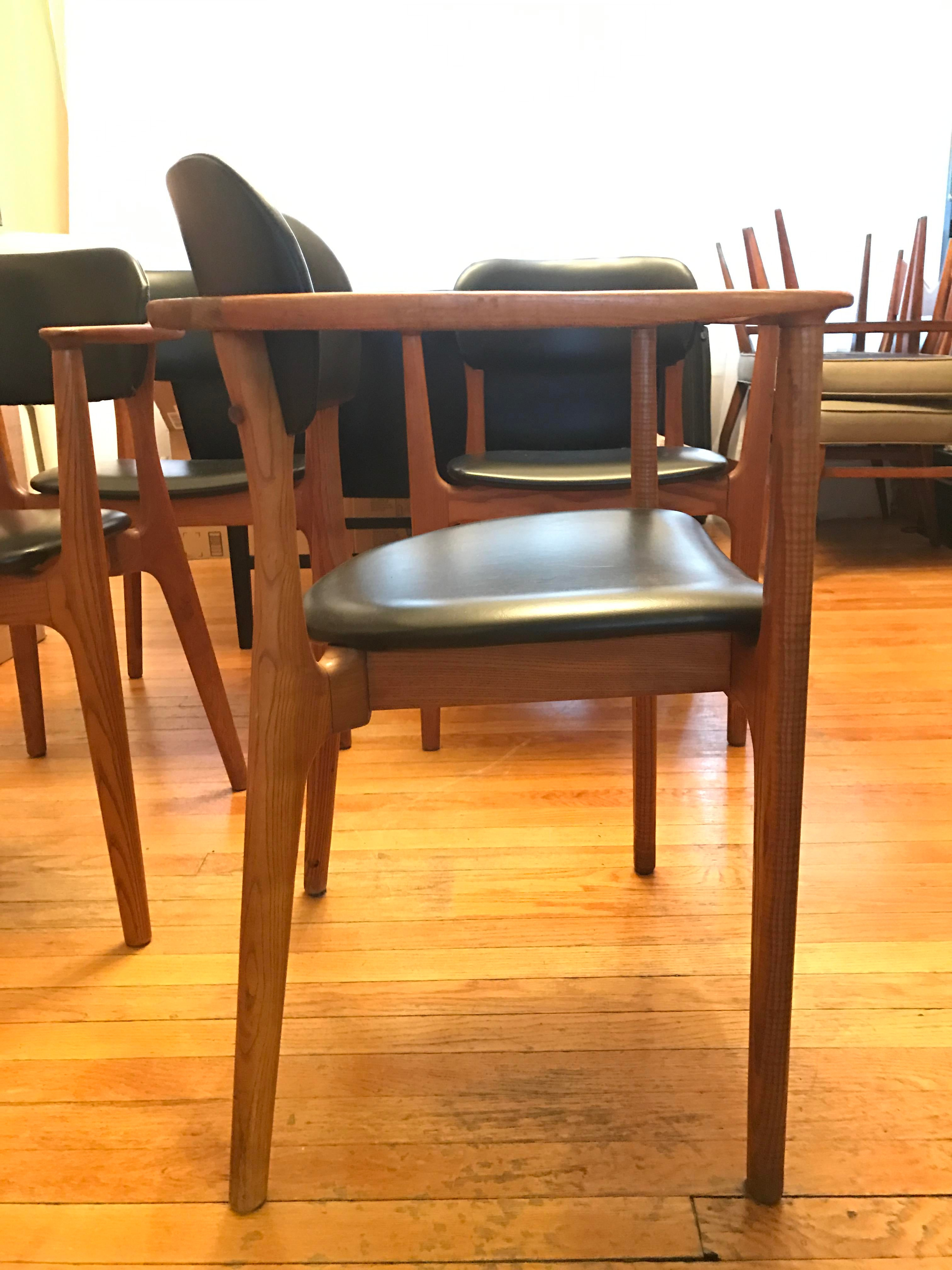 Alfred Sand Danish Teak Chairs - Set of 4   Chairish