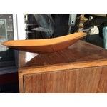 Image of Handmade Wooden Serving Boat Bowl