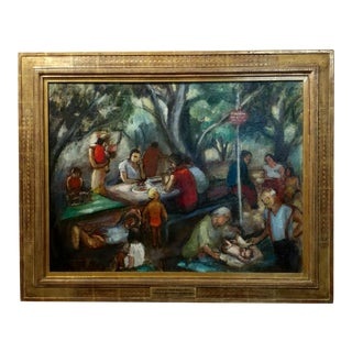 Frances Beatrice Lieberman-1935 Picnic at Alum Rock-Oil Painting-S.F. Museum of Art