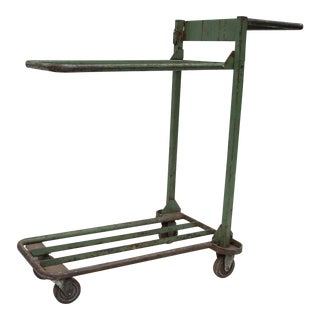 Industrial Age Two Tier Heavy Metal Cart