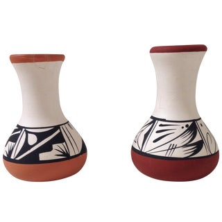 Western-Style Terracotta Vases - A Pair