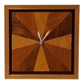 Mid-Century Modern Wood Clock