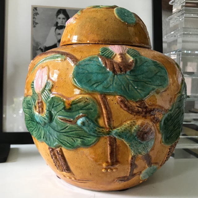 Vintage Majolica Ginger Jar - Image 4 of 5