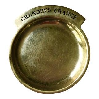 Vintage Brass Coin Dish