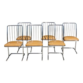 Set of 6 Vintage Daystrom Chrome Dining Chairs