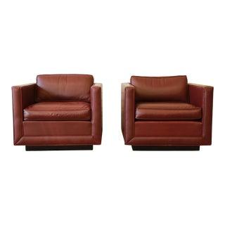 Nicos Zographos Tuxedo Lounge Chairs - Pair