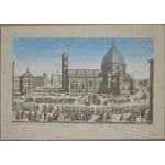Image of Antique Hand Colored Engraving of Florence, Italy